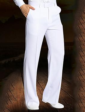 cheap Weddings & Events-Latin Dance Bottoms Men's Performance Spandex Ruching Natural Pants