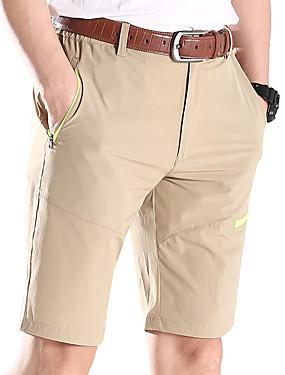 ieftine Sport i aktivnosti na otvorenom-Bărbați Culoare solidă Σορτς πεζοπορίας În aer liber Ușor Respirabil Uscare rapidă Elastic Vară Pantaloni Dans modern Drumeție Exerciții exterior Verde Militar Gri Kaki XXXL 4XL 5XL / Micro-elastic