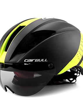povoljno Sport és outdoor-CAIRBULL Odrasli Bike Helmet with Goggle Aero kaciga 11 Ventilacijski otvori CE EN 1077 Otporan na udarce Integralno oblikovana Light Weight EPS PC Sportski Mountain Bike biciklom na cesti Jahanje -