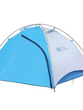 povoljno Sport és outdoor-MOBI GARDEN 2 osobe Obiteljski kamp šatori Vanjski Vjetronepropusnost Otporno na kišu Vodootporni patent Dvaput Slojeviti Motka šator za kampiranje 2000-3000 mm za Kampiranje / planinarenje
