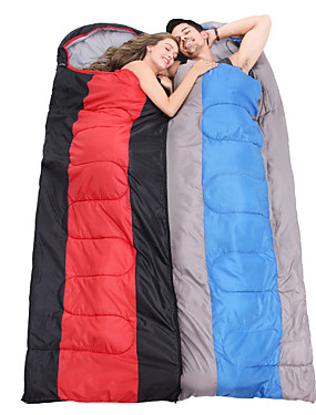 cheap Sports & Outdoors-Sleeping Bag Outdoor Envelope Rectangular Bag 2 pcs for 2 person -5-15 °C Double Size Cotton Waterproof Portable Windproof Warm Moistureproof Ultra Light (UL) Breathability Anti-Insect Foldable