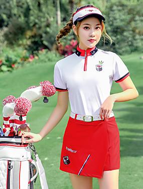 povoljno Sport és outdoor-PGM Žene Kratke hlače T-majica Sportska odijela Kratkih rukava Golf Athleisure Vanjski Pasti Proljeće Ljeto / Pamuk / Mikroelastično / Quick dry / Ovlaživanje / Prozračnost