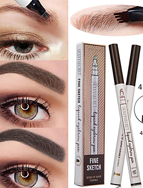 billige Øyemakeup-4 flytende øyenbryn blyant vanntett og slitesterk naturlig langvarig øye sminke