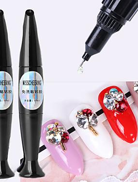 voordelige Ander Gereedschap-10ml nail art lijm gel voor strass decoraties sterke lijm tips lijm folie sieraden geen af te vegen gel top coat accessoires