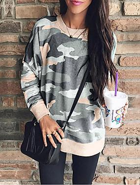 abordables Nouveautés-Femme Basique Sweatshirt camouflage
