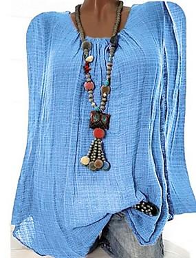 povoljno Novo u ponudi-Majica s rukavima Žene Dnevno Jednobojni Crn