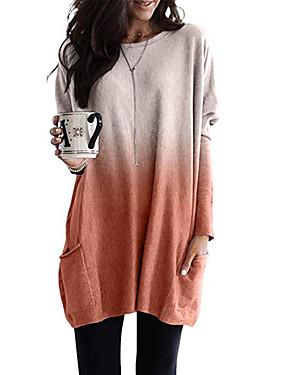 povoljno Novo u ponudi-Majica s rukavima Žene Dnevno Color block Svjetloplav