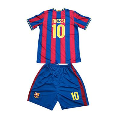 cb850ff34 09-10 Barcelona Home No.10 Messi Red   Blue Kid s Soccer Jersey   Short Kit  (GZZQ607)  00057282
