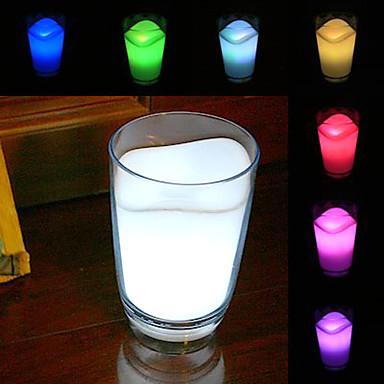 Decorațiune Interioară cu Lumini Schimbătoare 7 Culori, Model Pahar Cu Lapte Strălucitor (3xAAA)