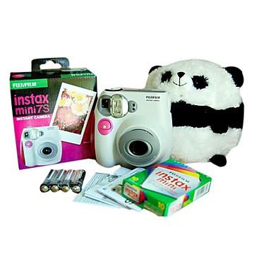 Fujifilm Mini instax 7s cámara instantánea rosa con 10 películas (dce112)
