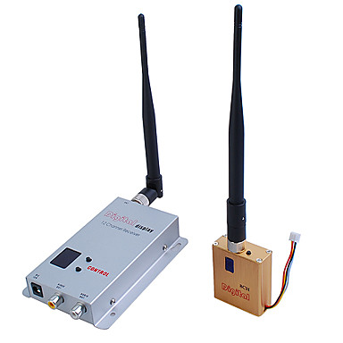 1.2g trådløs 8-ch 800mw dobbeltrom til rom audio / video senderen fox-800A