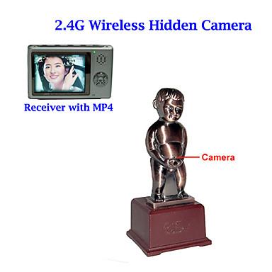 2.4GHz FM wireless Table Sculpture Hidden Camera