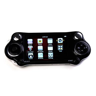 4,3 polegadas 100 jogos jogador mp4 com câmera digital (8gb, branco / preto)
