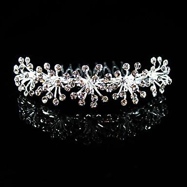 alliage magnifique avec strass peignes de mariée mariage / casque (0498-lm033)