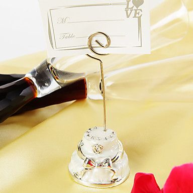 Zinc Alloy Place Card Holders 4 Standing Style Poly Bag