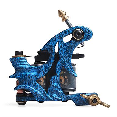 assemblé à la main en fonte revêtement 10-wrap machine à serpentin de tatouage et shader
