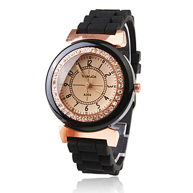 cheap Women's Watches-Women's Wrist Watch Japanese Quartz Black Casual Watch Analog Ladies Sparkle Fashion Dress Watch