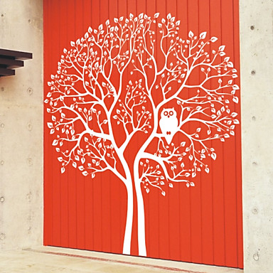 Big Tree and Owl Wall Stickers (1985-D5)