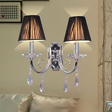 elegant krystall vegg lys med 2 lys
