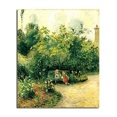 Hand-painted Oil Painting Les Mathurins' Garden by Camille Pissarro with Stretched Frame