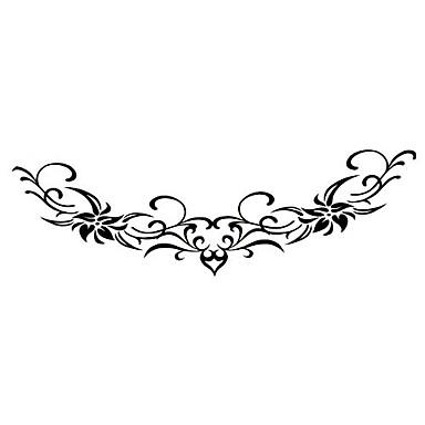 5 stk blomst vandtæt midlertidig tatovering (14m * 4cm)