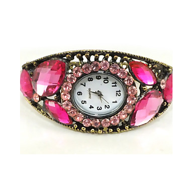 Shining Cubic Zirconia Quartz Movement Round Shape Bracelet Watch