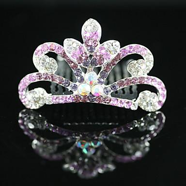 hermoso cz circonio cúbico niña de las flores tiara / diadema más colores disponibles