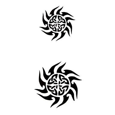 Tattoo Stickers Totem Series Pattern Waterproof Women Girl Teen Flash Tattoo Temporary Tattoos
