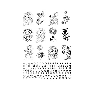 5 pz tatuaggio temporaneo bellezza