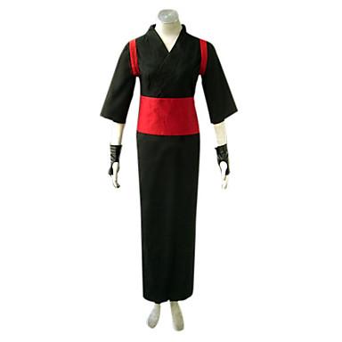 Inspirerad av Naruto Temari Animé Cosplay-kostymer cosplay Suits Kimono Lappverk Långärmad Yukata Handskar Skärp Benvärmare Till Herr Dam