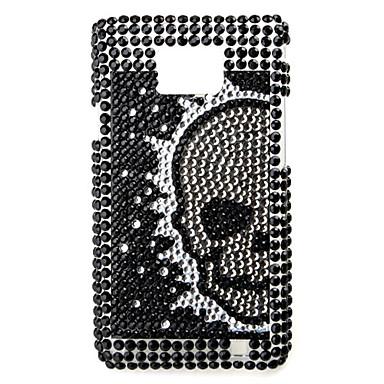 schelet model caz de protecție pentru Samsung i9100 (negru)