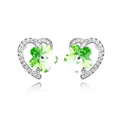 blomst krystal aluminiumsfælge øreringe flere farver