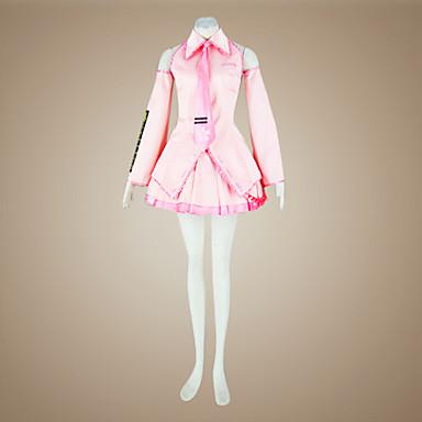 Inspiriert von Vocaloid Sakura Miku Video Spiel Cosplay Kostüme Cosplay Kostüme / Kleider Patchwork Ärmellos Hemd / Rock / Ärmel Halloween Kostüme
