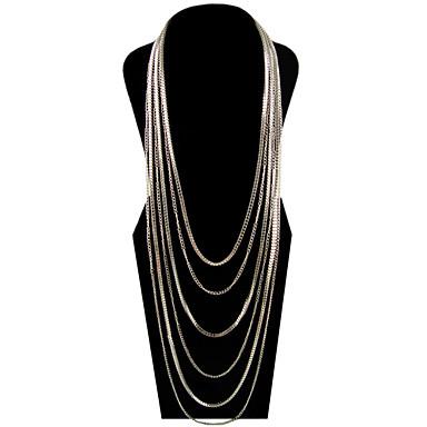 4 farver uregelmæssige aluminiumsfælge halskæder (flere farver)