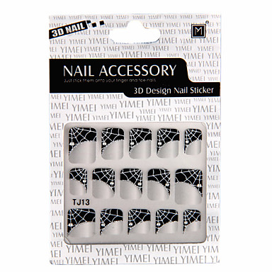 6 In 1 3D Design Nail Sticker
