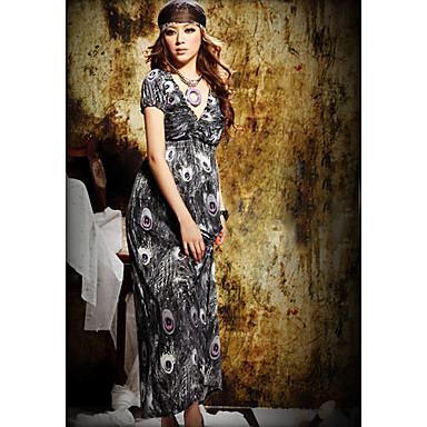 V-neck Cotton Maxi Dress (More Colors)