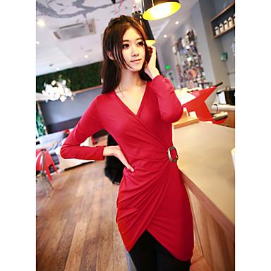 v-hals schede / kolom Date Night mini jurk (meer kleuren)