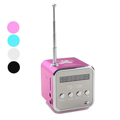 mini cube digital fm radio speaker microsd reader usb. Black Bedroom Furniture Sets. Home Design Ideas
