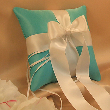 Ribbons Sash Bow Satin Ring Pillow Garden Theme Winter Spring Summer Fall