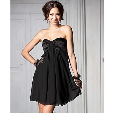 une ligne du cou-bustier la date chérie mini-robe de nuit (plus de couleurs)