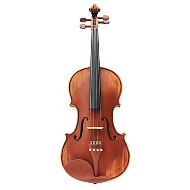 semi-artisanal violon en épicéa massif avec étui / arc / colophane (multi-format)