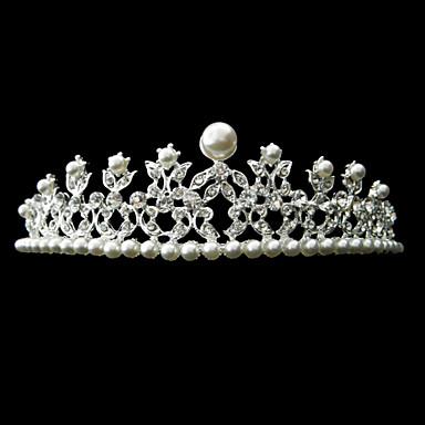 smukke legering med rhinestone og perle brude tiara
