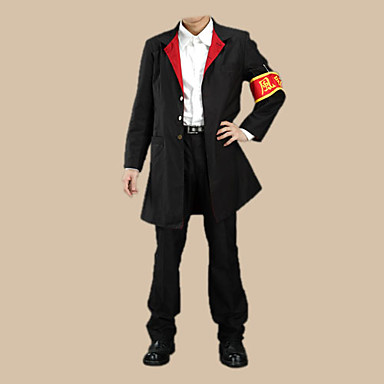 Inspired by Reborn! Kyoya Hibari Anime Cosplay Costumes Cosplay Suits School Uniforms Color Block Long Sleeve Coat Shirt Pants Armlet For