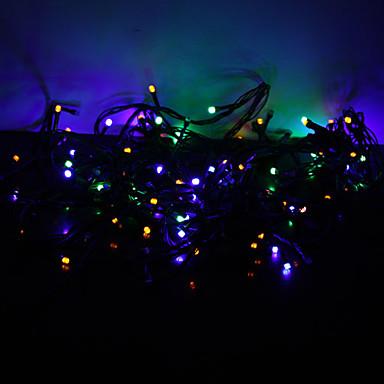 Dizili Işıklar 100 LED'ler RGB Renk Değiştiren 220V