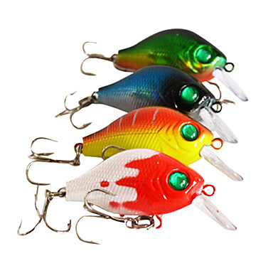 1 pcs Hard Bait Crank Fishing Lures Hard Bait Crank Orange Forest Green Assorted Colors Blue Red g/Ounce,55 mm/2-1/4