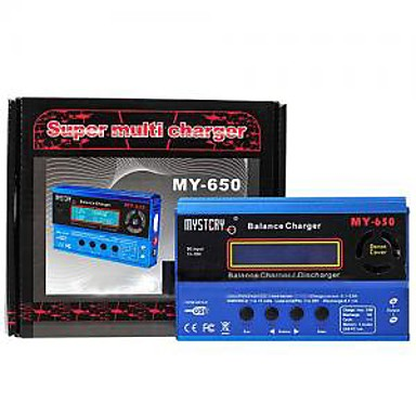 mysterium min-650 intelligent balance oplader w / magt 50w/5a & ventilator (my0008)