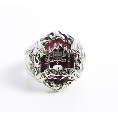 Jewelry Inspired by Reborn! Kyoya Hibari Anime Cosplay Accessories Ring Purple / Silver Alloy / Artificial Gemstones Male