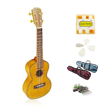 yadars - solid mahogny konsert ukulele med gigbag / stämpipa / plockar / capo