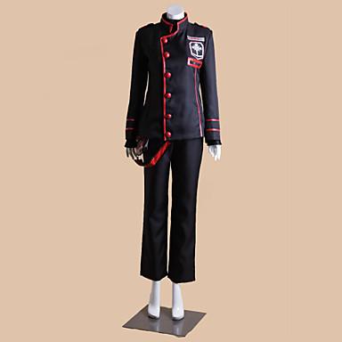 Inspireret af D.Grå-mand Allen Walker Anime Cosplay Kostumer Cosplay Kostumer Patchwork Langærmet Frakke Top Bukser Sokker Til Mand