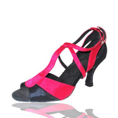 настроенные женские шелковые латинские / бальных танца обувь (больше цветов)